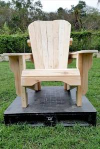 Unfinished Pallet Adirondack Chairs for Garden   101 Pallets
