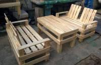 Wooden Pallet Patio Furniture Set | 101 Pallets