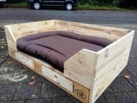 DIY Pallet Dog Bed Design with Drawers   101 Pallets
