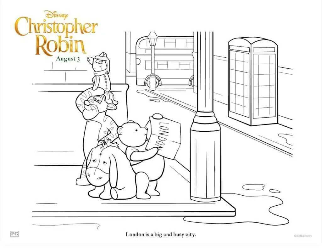 14 Christopher Robin Free Printable Coloring Pages