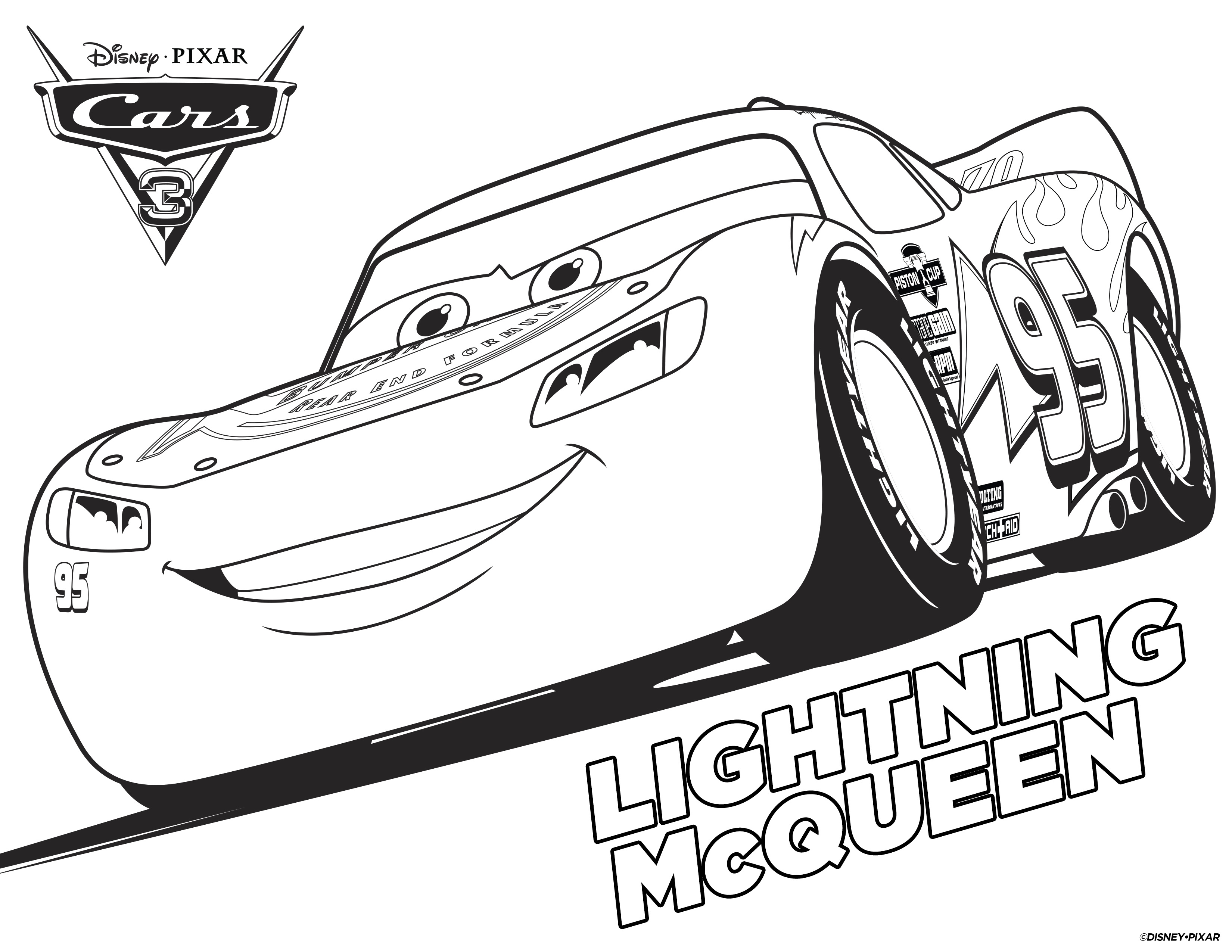 4 Disney Cars Free Printable Coloring Pages