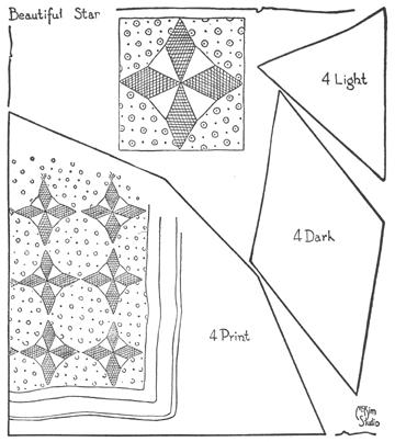 101 Patchwork Patterns by Ruby Short McKim::Cutting Patterns