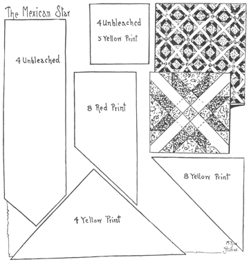 Mexican Star Quilt Pattern