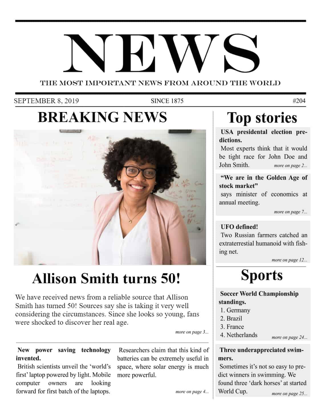 Newspaper Article Maker : newspaper, article, maker, Newspaper, Generator, Create, Minutes