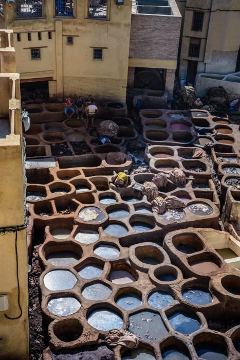 Местата за щавене на кожите във Фес, Мароко