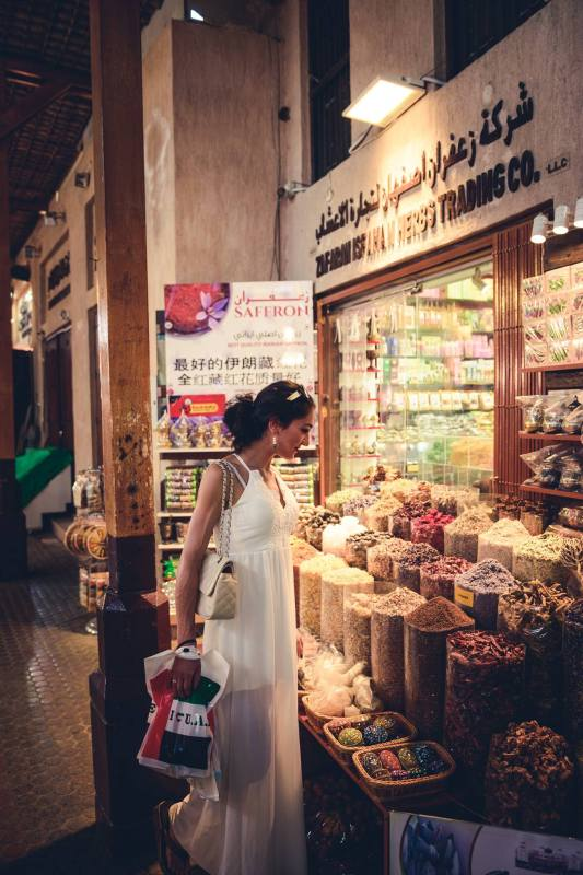 Spice Souk. Пазарът на подправките, Дубай, ОАЕ