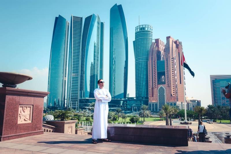 Гледката от хотел Emirates Palace, Aбу Даби