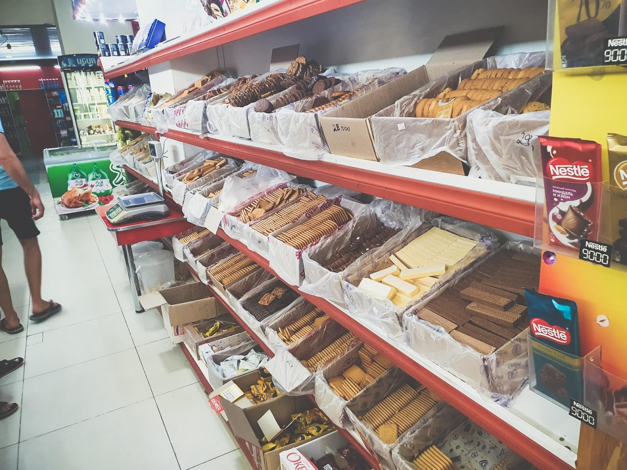 В супермаркета в Хива, Узбекистан