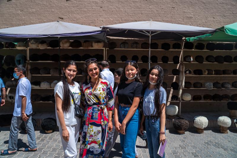 Из уличките на стария град на Хива, Узбекистан