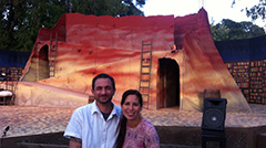 "Philip and Sarah at Marin Shakespeare's production of ""Don Quixote"""