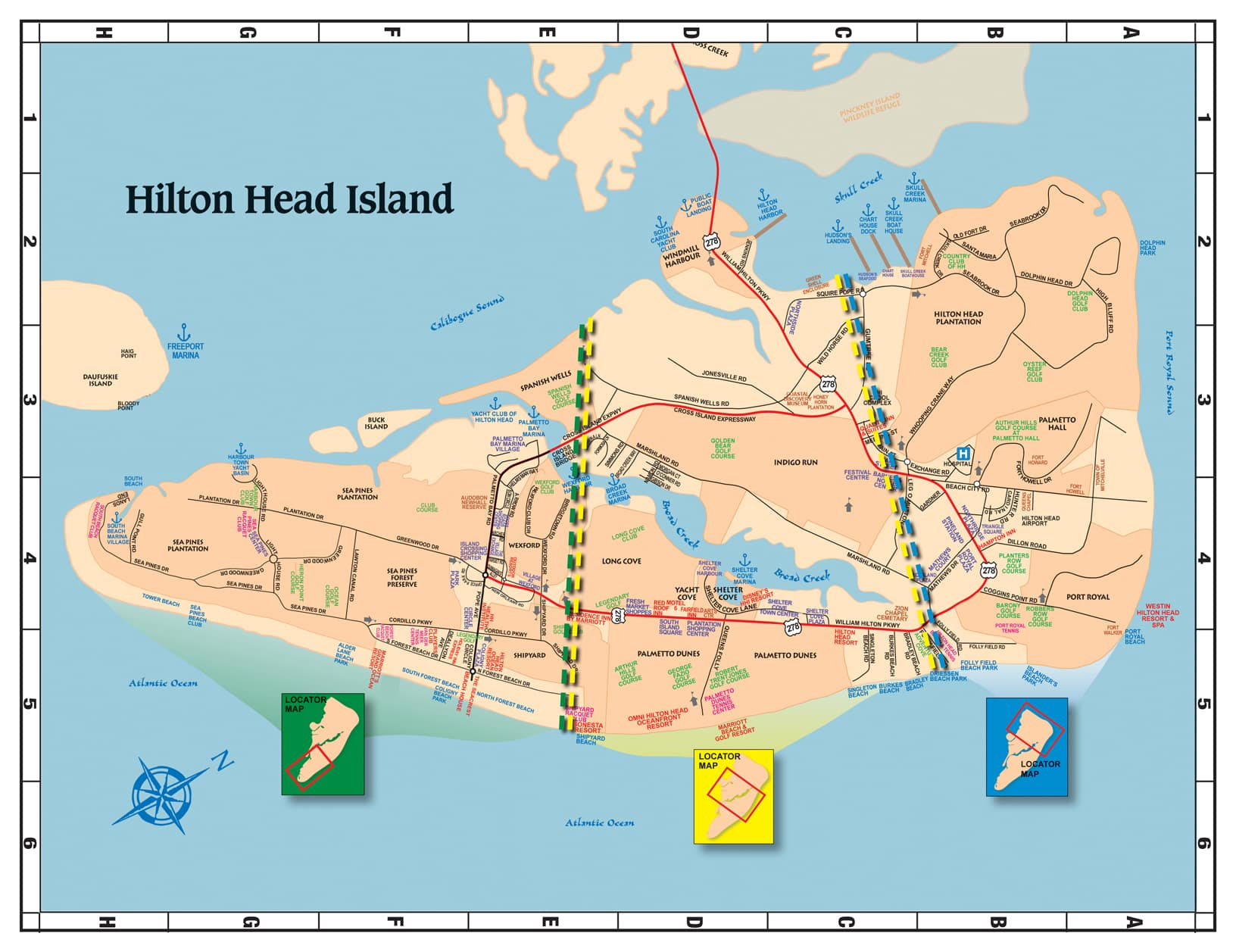 hilton head island. maps of hilton head the lowcountry  savannah   things to do