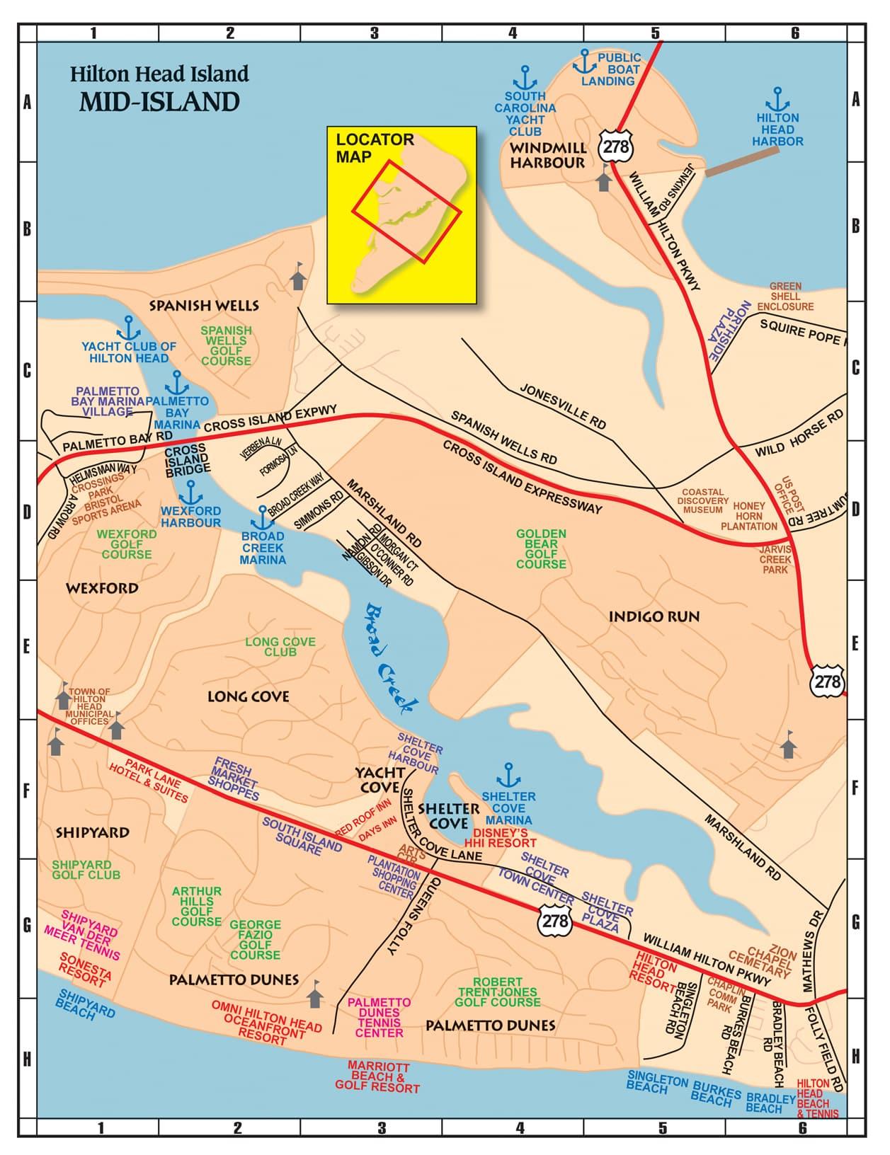 hilton head island – midisland. maps of hilton head the lowcountry  savannah   things to do