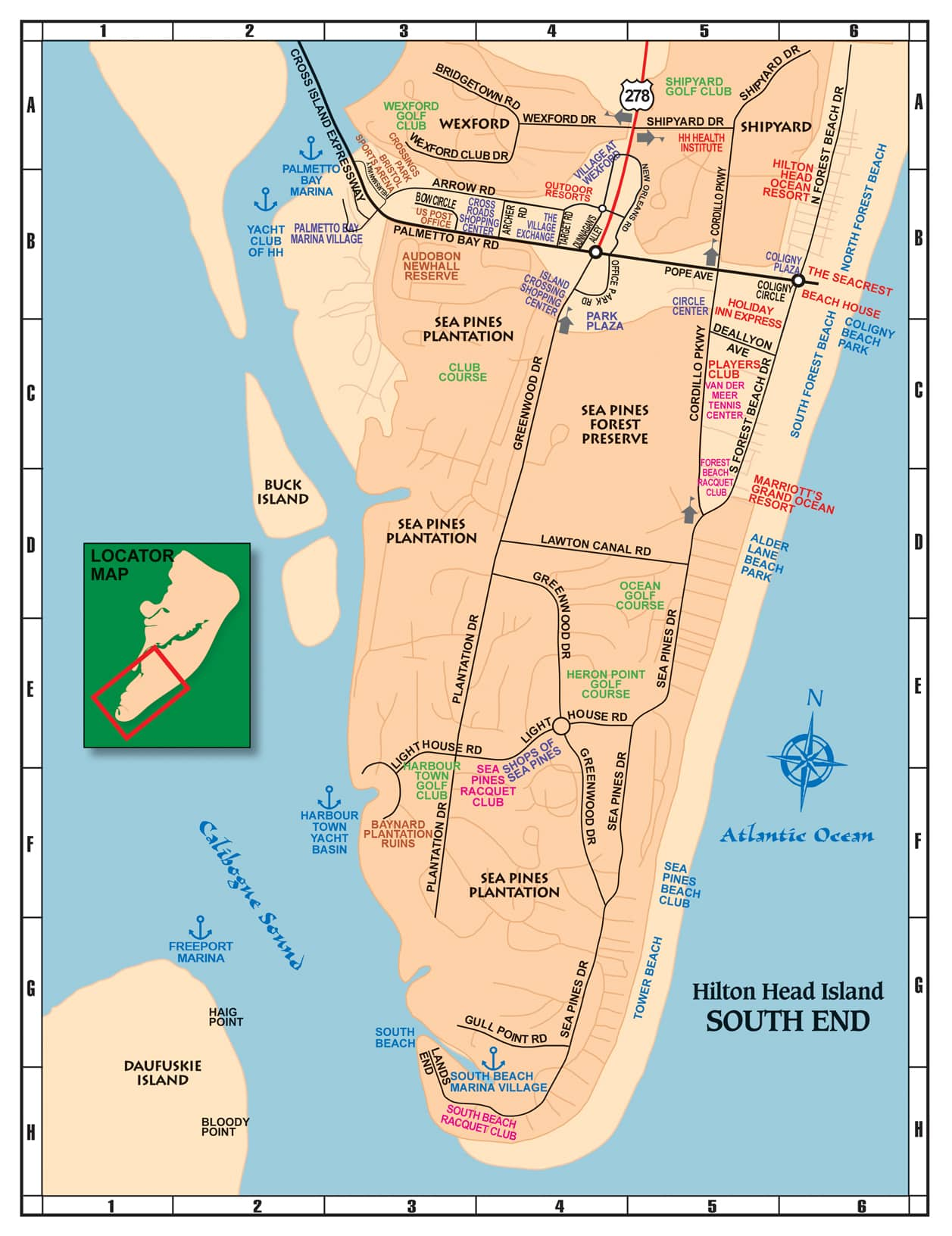 Savannah South Carolina Map.Maps Of Hilton Head The Lowcountry Savannah 101 Things To Do