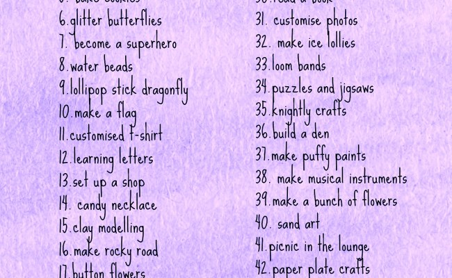 Rainy Day Activities Jar 101 Things To Do With Kids