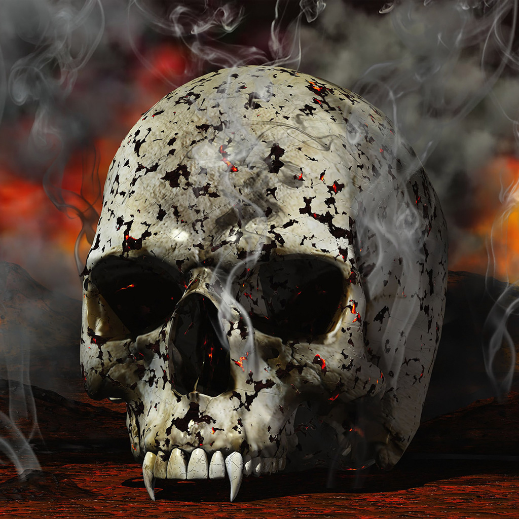 Free Skull Wallpapers For Iphone 3d Abstract Skull Death Of Vampire Ipad Iphone Hd