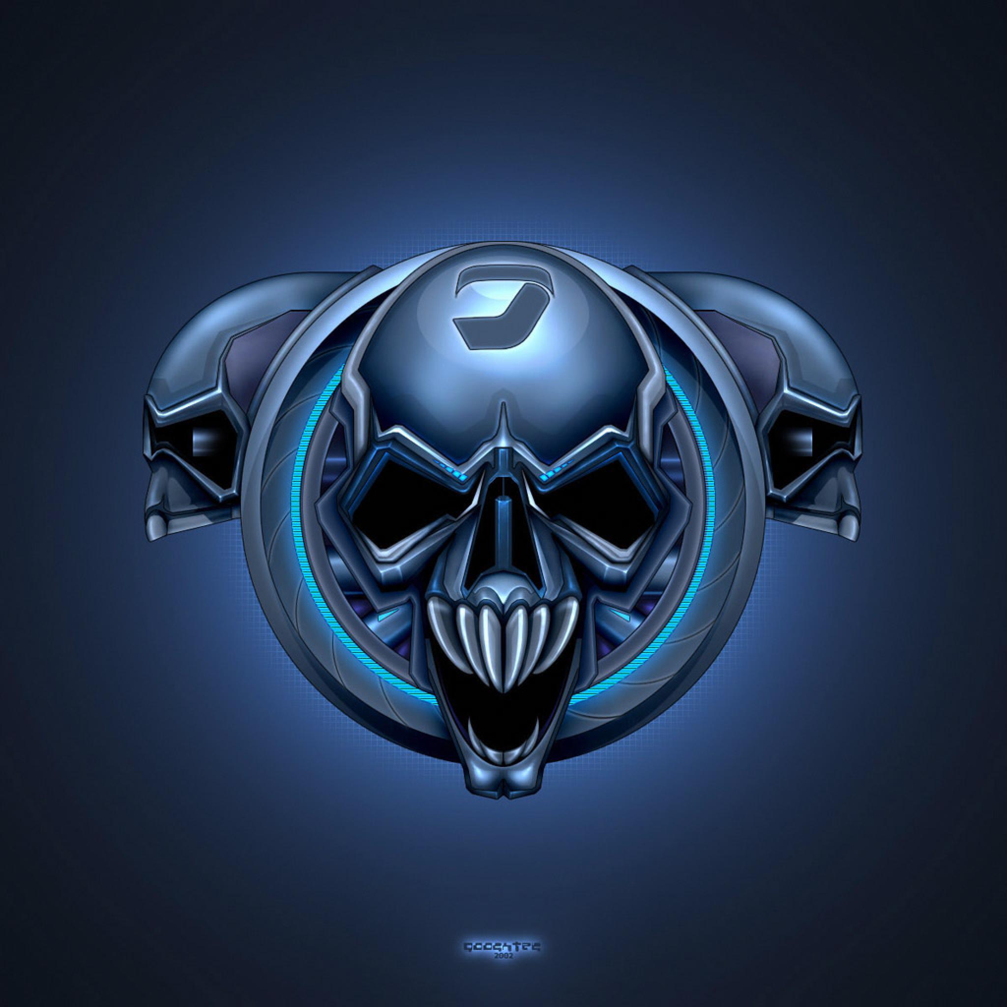 Skullcandy Iphone Wallpaper 3d Abstract Brainwash Skull 3d Ipad Iphone Hd