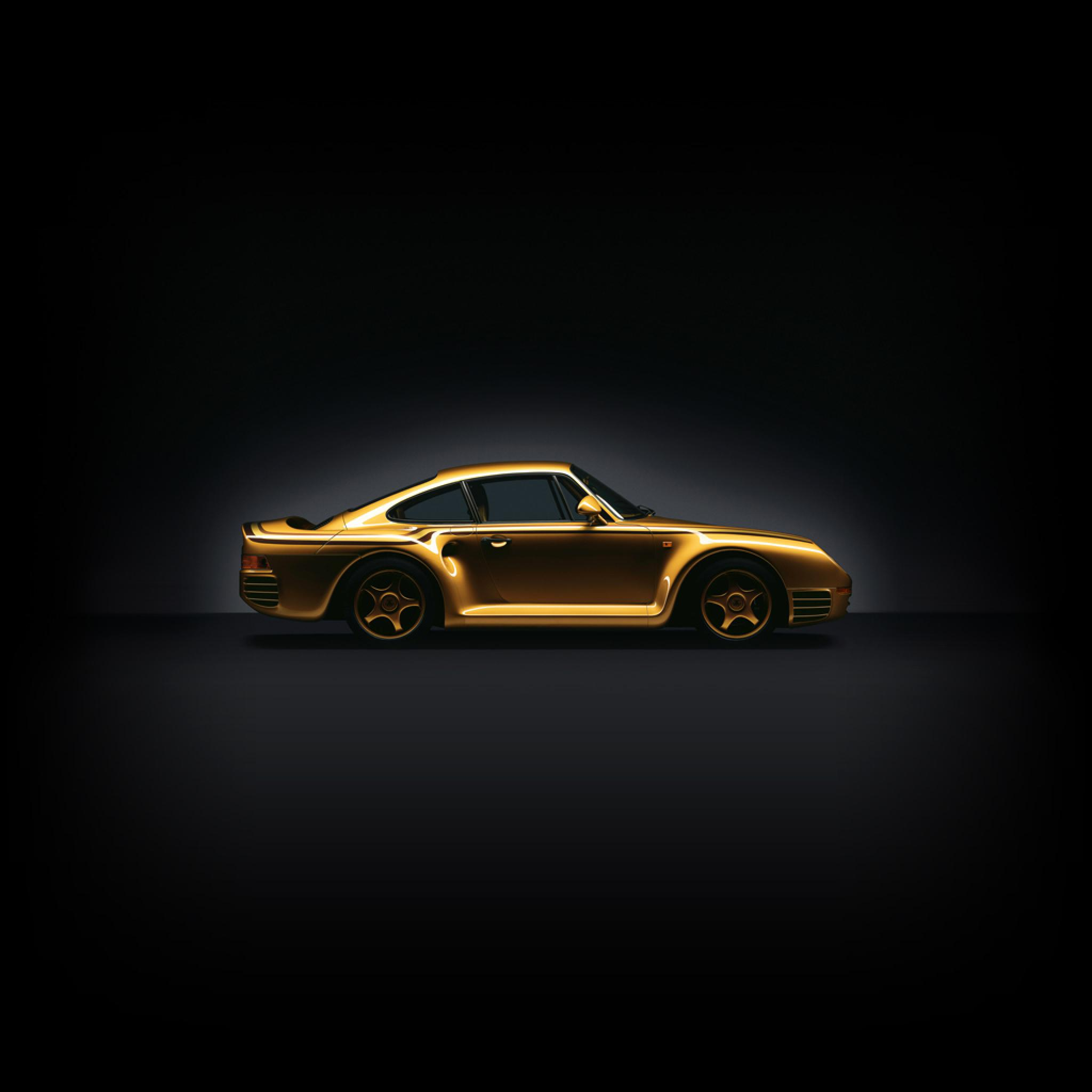 Cars Porsche 959 Exclusive Gold Plated IPad IPhone HD