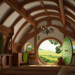 CG/Fantasy Medieval House Interior Design iPad iPhone HD Wallpaper Free