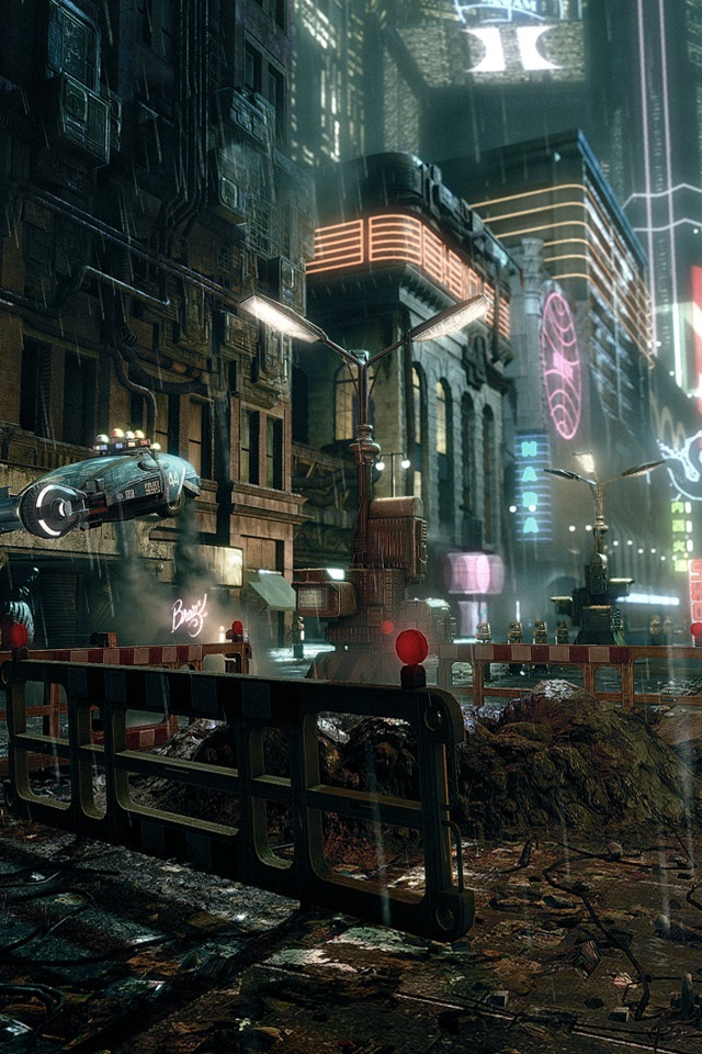 Steampunk Girl Wallpaper Hd Cg Fantasy Classic Japanese Cyberpunk City Art Ipad
