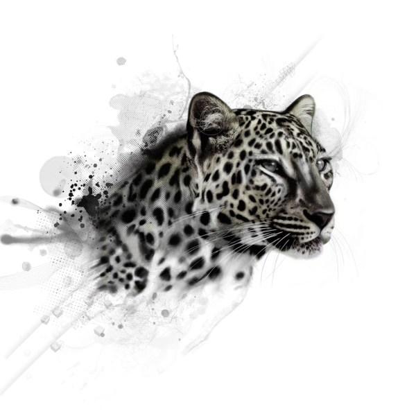 Black and White Leopard Tattoo