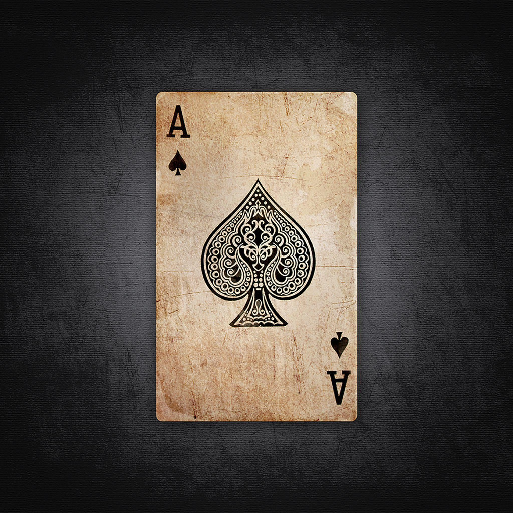 Cute Initial Wallpaper Miscellaneous Black Ace Of Hearts Ipad Iphone Hd