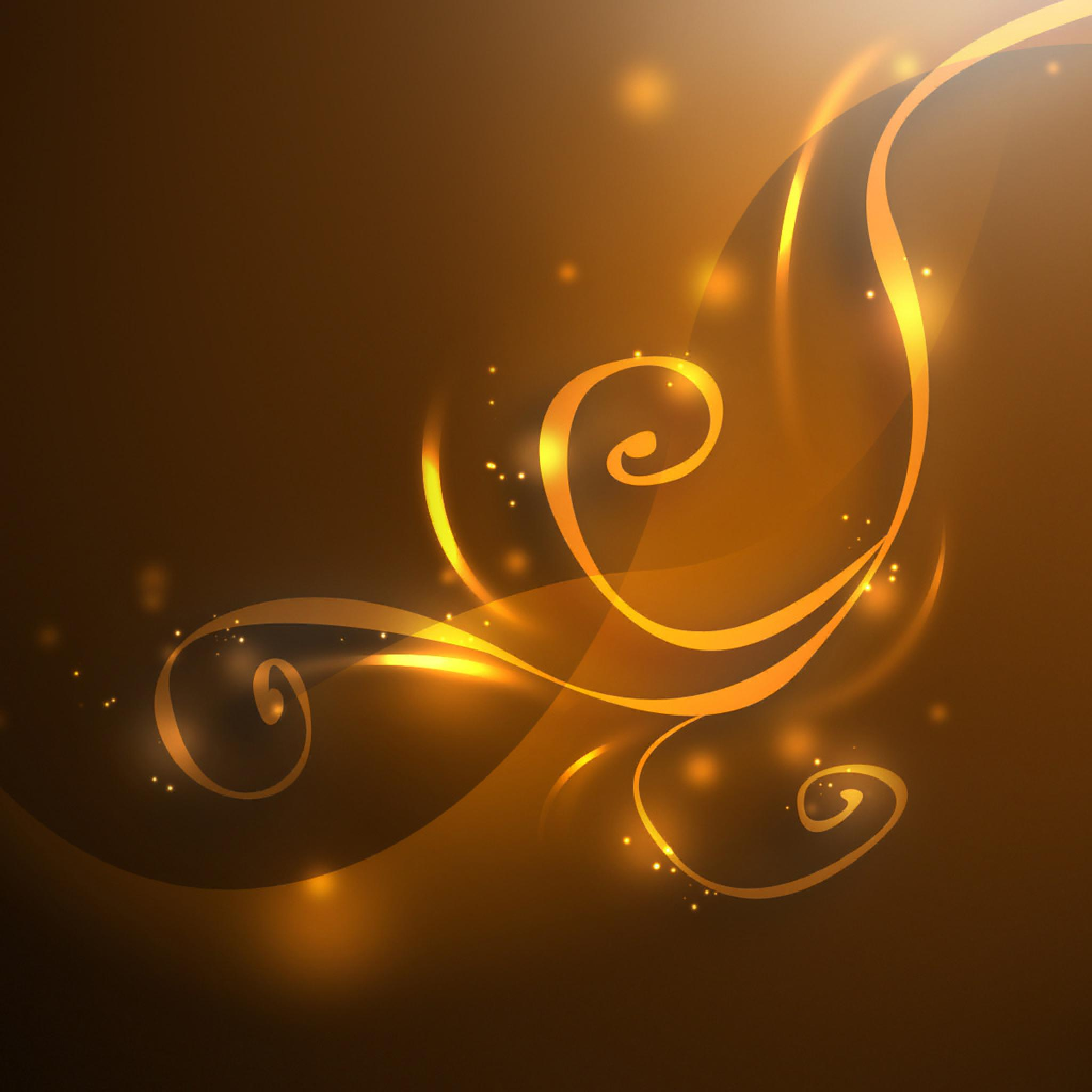 Cute Initial Wallpaper Vector Golden Gold Swirls Background Ipad Iphone Hd