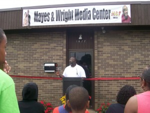 Vice President Gregory T. Roberts speaking at the dedication.