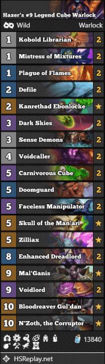 Hazer's #9 Legend Cube Warlock
