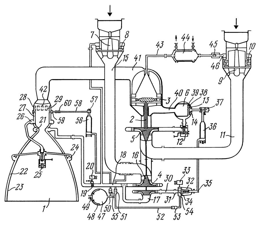 Rocket Engine Schematic