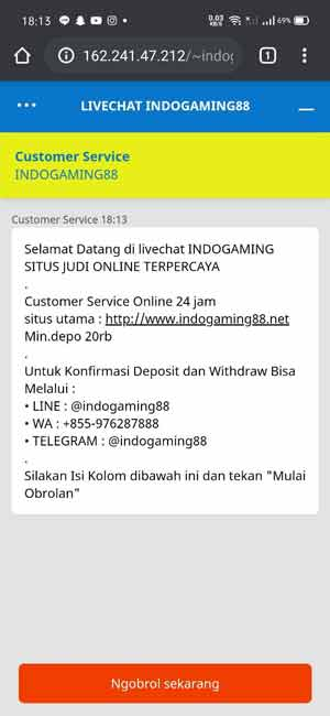 Live-chat-indogaming