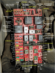 Sparky's Answers - 2003 Ford F150 Underhood Fuse Box Identification | Ford Lightning Fuse Box Diagram |  | Sparky's Answers