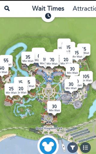Disney App Wait Times