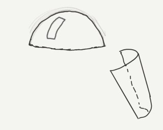 A depiction of how to marry the sheet and dome