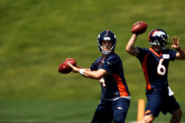 Image result for broncos training camp case keenum