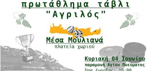 πρωτάθλημα Τάβλι Αγριλός στα Μέσα Μουλιανά Σητείας
