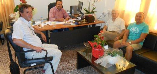 Επίσκεψη Θραψανιώτη στο νέο Διευθυντή Πρωτοβάθμιας Εκπαίδευσης Λασιθίου