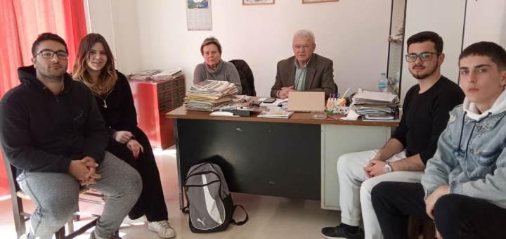 Θραψανιώτης με το ΔΣ του Συλλόγου σπουδαστών της ΑΣΤΕΚ