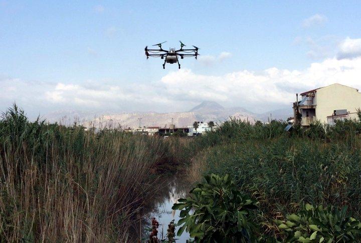 Αεροψεκασμός με drone στο Γιόφυρο για καταπολέμηση των κουνουπιών