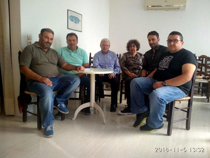 Συνάντηση Θραψανιώτη με το Σωματείο Εργαζομένων Αθερινόλακκου