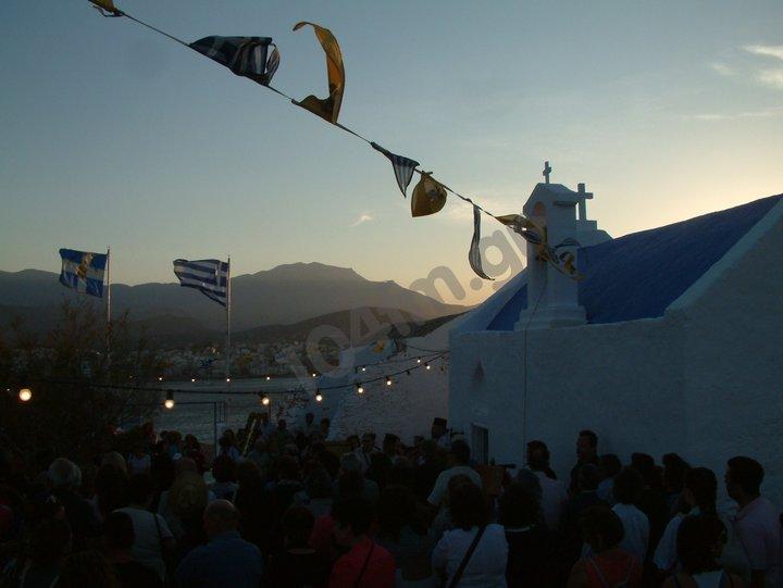 Άγιοι Πάντες 2018, εσπερινός στο νησί