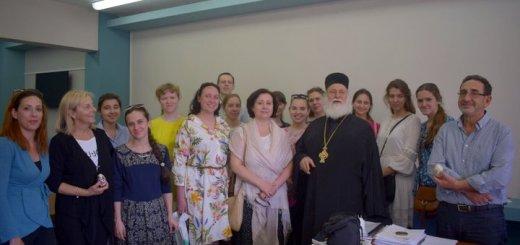Φοιτητές και καθηγητές του Αγίου Τύχωνα στον Άγιο Νικόλαο