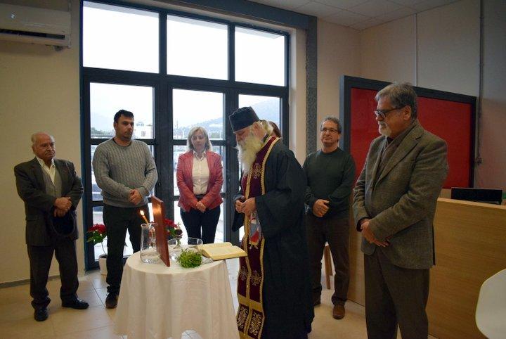 Αγιασμός στο νέο κτίριο υπηρεσιών του δήμου Αγίου Νικολάου