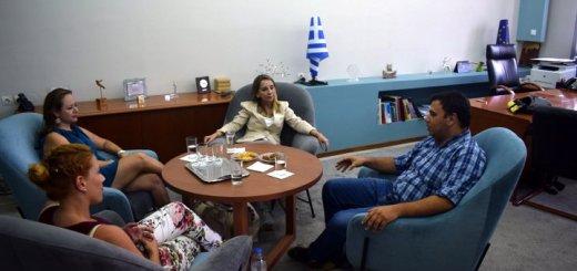 η πρέσβειρα της Χιλής στον Δήμο Αγίου Νικολάου
