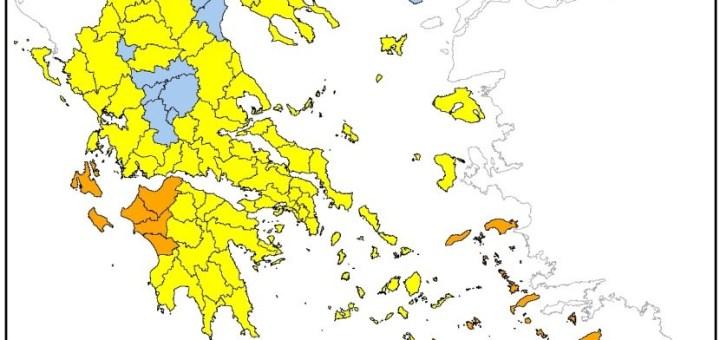 Τρίτη 10-8-2021 ο Νομός Λασιθίου βρίσκεται σε πολύ υψηλό κίνδυνο πυρκαγιάς (κατηγορία κινδύνου 4)