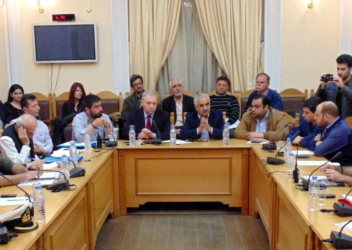 Σύσκεψη στην ΠΕ Ηρακλείου για την επιχειρησιακή ετοιμότητα για την αντιμετώπιση φυσικών φαινομένων παρουσία Ε. Λέκκα και Ε. Κουκιαδάκη