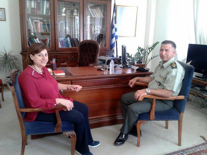 νέος διοικητής 5ης μεραρχίας Κρητών, εθιμοτυπικές επισκέψεις
