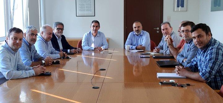 Συνάντηση με τον πρύτανη του Ελληνικού Μεσογειακού Πανεπιστημίου