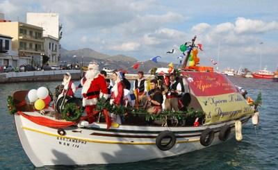 Άγιος Βασίλης, δια θαλάσσης