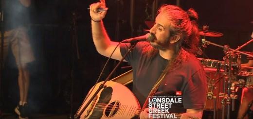 ο Γιάννης Χαρούλης στο Lonsdale Street Greek Festival στη Μελβούρνη