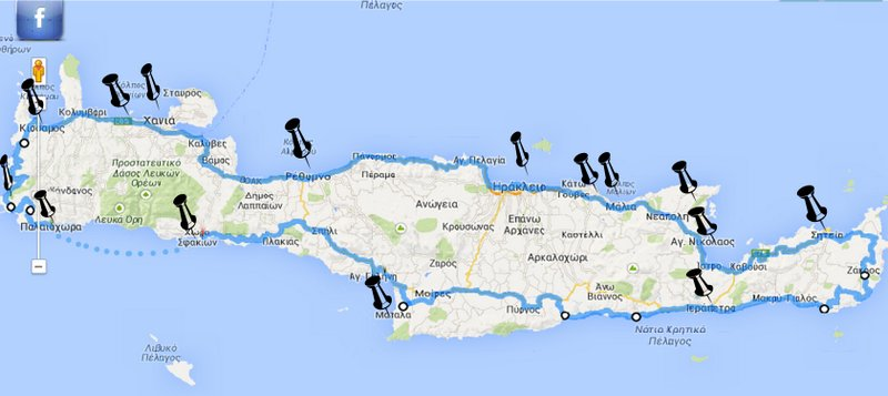 το δρομολόγιο του Cynniclyst στη Κρήτη τις επόμενες μέρες